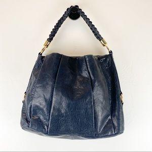 Antonio Melani Blue Leather Hobo Bag